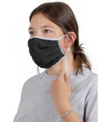 Foto von Waschbare und regulierbare Maske schwarz 10st