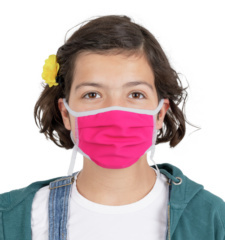 Foto von Waschbare Mundschutzmasken für Kinder fuchsie 5 stück