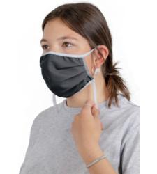 Foto von Waschbare Mundschutzmasken grau 10 stück