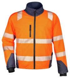 Bequeme Warnschutzjacke mit Reflexstreifen, Warnjacke aus Stretch-Material, Jacke mit praktischen Details