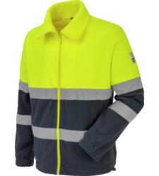Photo de Polaire de travail Würth MODYF haute-visibilité jaune/marine