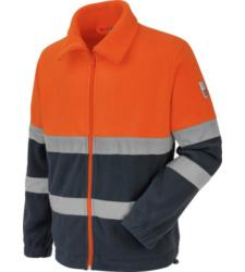 Photo de Polaire de travail Würth MODYF haute-visibilité orange/marine