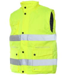 Foto van Gewatteerde high-visibility Würth MODYF werkvest, geel
