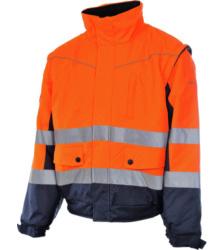 Photo de Blouson de travail Würth MODYF 2 en 1 haute-visibilité orange/marine