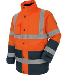 Photo de Parka de travail Würth MODYF haute-visibilité 4 en 1 orange/marine
