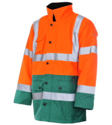 Foto de Parka de Trabajo Alta Visibilidad 3/2 Naranja/Verde