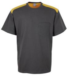 Foto de Camiseta Combi Gris/Amarillo