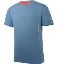 T-shirt de travail, de couleur bleue, sportif et à séchage rapide, avec manche raglan et protection UV 50.