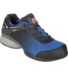 Metallfreier Sicherheitsschuh S3, blau, Kunststoffzehenkappe, Mesh Gewebe, Laufsohle SRC