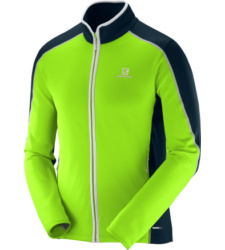 Foto von Salomon Atlantis FZ Fleecejacke granny green big blue