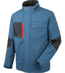 Photo de Softshell de travail Würth MODYF Nature bleue