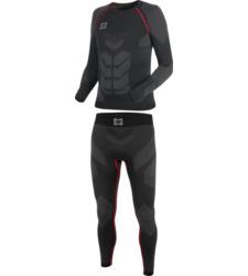 Foto von Thermo Unterwäsche Set Basic schwarz rot