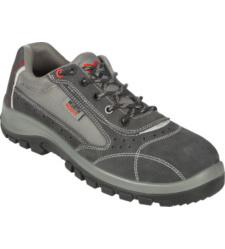 Voordelige grijze werkschoen S1P, ademend, stalen capuchon, vanaf maat 35, antislip.