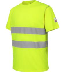 Photo de Tee-shirt de travail microporeux Würth MODYF haute-visibilité jaune