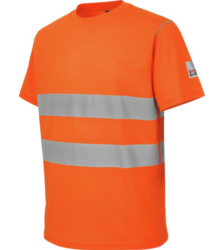 Photo de Tee-shirt de travail microporeux Würth MODYF haute-visibilité orange