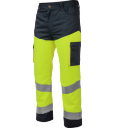 Foto van Würth MODYF high-visibility werkbroek, geel/marineblauw