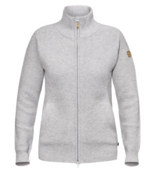 Foto von Fjällräven Övik Zip Strickjacke light grey
