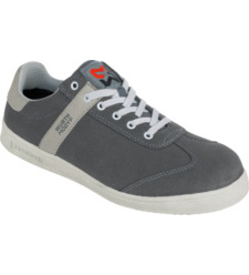 Graue Arbeitsschuhe S1P, aus leichter Mikrofaser, atmungsaktiv, sportlicher Sneaker für die Arbeit,  moderner Look, Stahlzehenkappe, für Handwerker