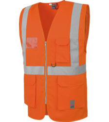 Photo de Gilet de travail haute visibilité multipoches EN20471 Würth MODYF orange