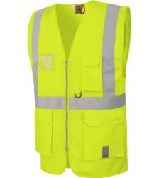 Photo de Gilet de travail haute visibilité multipoches EN20471 Würth MODYF jaune