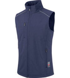 foto di Gilet blu City in softshell
