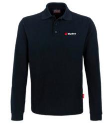 Foto von Langarm-Poloshirt Performance Herren schwarz mit Würth Logo