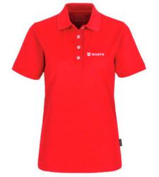 Foto von Poloshirt Coolmax Damen Rot mit Würth Logo