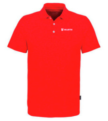 Foto von Poloshirt Coolmax Herren Rot mit Würth Logo