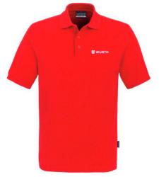 Foto von Poloshirt Classic Herren Rot mit Würth Logo