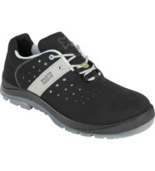 Arbeitsschuhe S1P, Farbe Schwarz, sportliches Design, aus atmungsaktiver & leichter Mikrofaser, metallfreie Sneakers, ESD Ausstattung, moderner Look, Kunststoffkappe