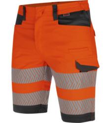 Photo de Bermuda de travail haute-visibilité fluo orange/anthracite Würth MODYF