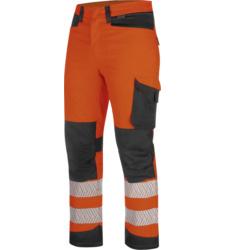 Foto von Warnschutz Winter Bundhose FLUO EN20471 orange anthrazit