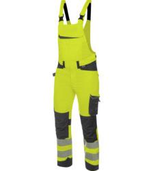 Foto von Warnschutz Arbeitslatzhose FLUO EN 20471 gelb anthrazit