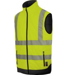 Photo de Gilet de travail haute-visibilité réversible jaune fluo Würth MODYF