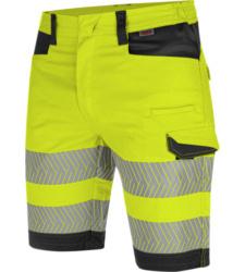 Photo de Bermuda de travail haute-visibilité fluo jaune/anthracite Würth MODYF