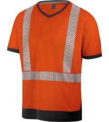 Photo de Tee-shirt de travail haute-visibilité orange fluo Würth MODYF