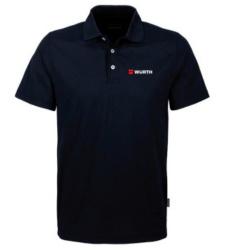 Foto von Poloshirt Coolmax Herren schwarz mit Würth Logo