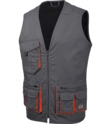 Photo de Gilet de travail sans manche Starline Gris/Orange