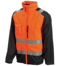 Photo de Parka haute visibilité 2 en 1 Reflex orange fluo/noir