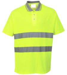 Photo de Polo haute visibilité jaune fluo