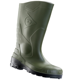 nouvelle version artisanat exquis vente professionnelle Bottes de sécurité S5 Dunlop Devon vertes