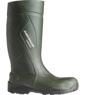autorisierte Website Geschäft Verarbeitung finden Gummistiefel S5 CI SRC Dunlop Purefort Plus Full Safety dunkelgrün