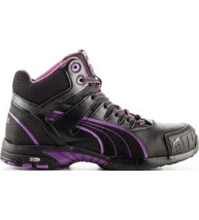 Chaussures de sécurité femme S3 SRC Stepper montantes Puma noiresviolettes