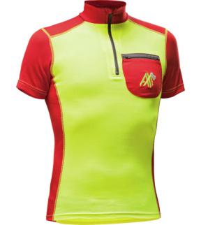 Splitter nya Arbeits T-Shirt kurzarm in Signalgelb und Rot mit Klimakomfort SZ-65