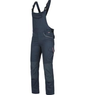 Modestil feine handwerkskunst Großbritannien Arbeitslatzhose Stretch X Damen blau