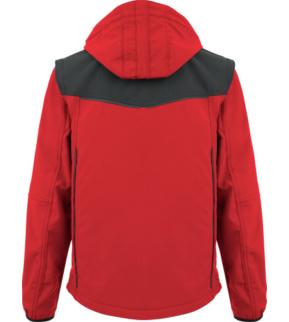 Funktionelle & praktische Softshelljacke in Rot für die