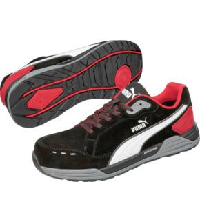 Baskets de sécurité S3 ESD HRO SRC Puma Airtwist noires et rouges