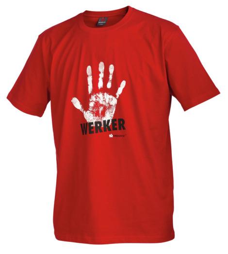 Foto von Arbeits T-Shirt Handwerker rot