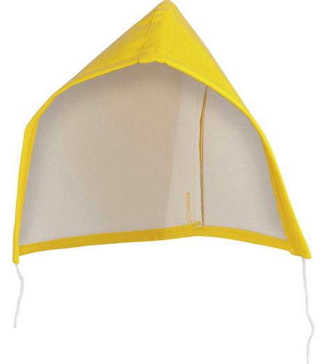 Foto von Kapuze für Regenjacke gelb