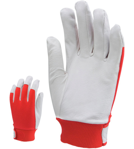 Photo de 12 paires de gants de manutention cuir/coton